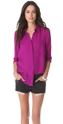 Haute Hippie Blouse with Oversized Pocket