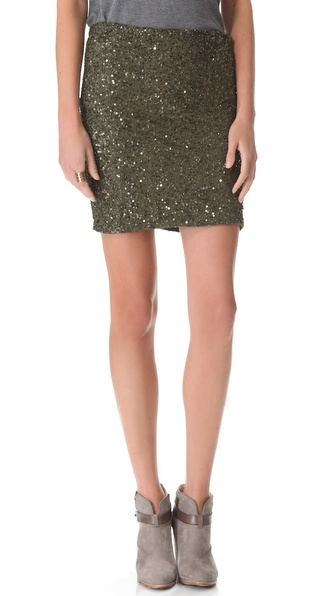 Haute Hippie Junk Sequin Pencil Skirt