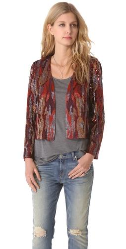 Haute Hippie Snake Ikat Sequin Jacket