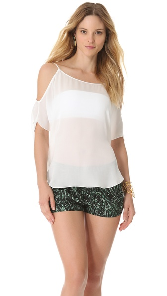 Haute Hippie Cold Shoulder Tee