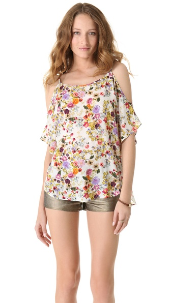 Haute Hippie Cold Shoulder Top