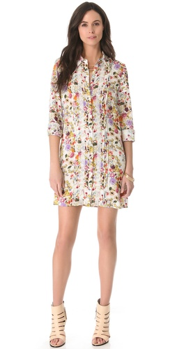 Haute Hippie Pleated Shirtdress