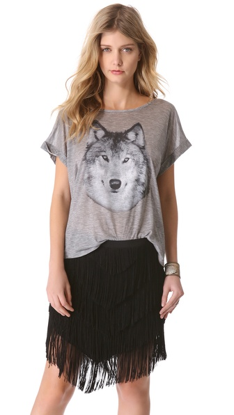 Haute Hippie Hungry Like A Wolf Tee