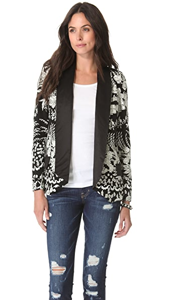 Haute Hippie Floral Embroidered Jacket