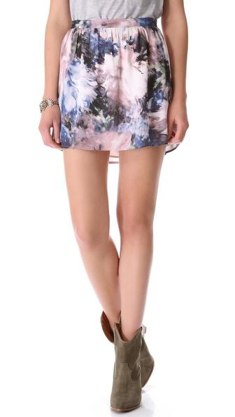Haute Hippie Print Miniskirt