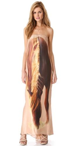 Haute Hippie Horse Strapless Dress