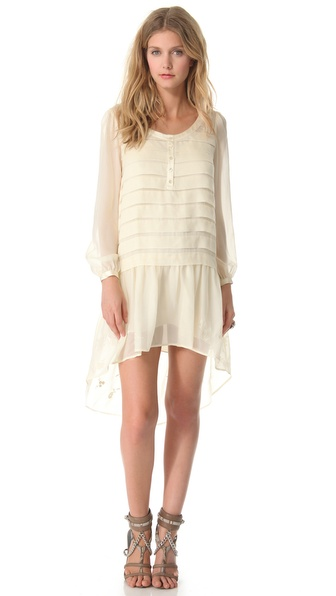Haute Hippie Wide Pleat Shirtdress