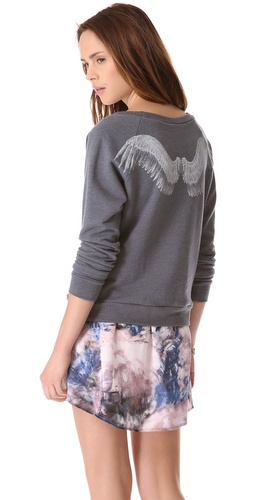 Haute Hippie Angel Wings Sweatshirt