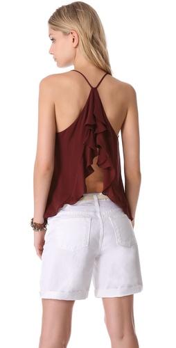 Kupi Haute Hippie Ruffle Back Tank i Haute Hippie haljine online u Apparel, Womens, Tops, Blouse,  prodavnici online