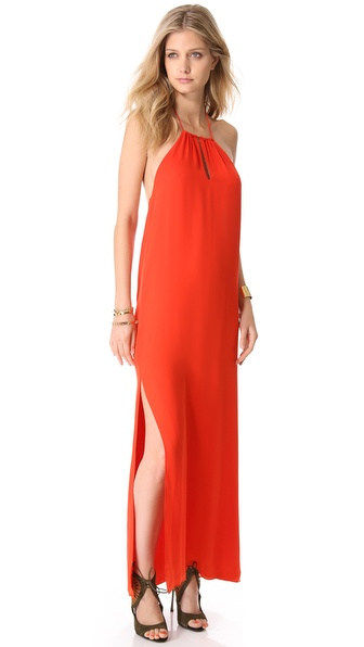 Haute Hippie Long Halter Gown
