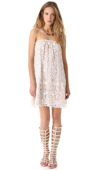 Haute Hippie Threadwork Mini Dress