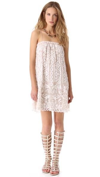 Haute Hippie Threadwork Mini Dress