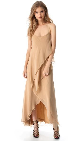 Haute Hippie Tiered High Low Dress