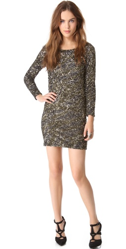 Haute Hippie Caviar Sequin Dress