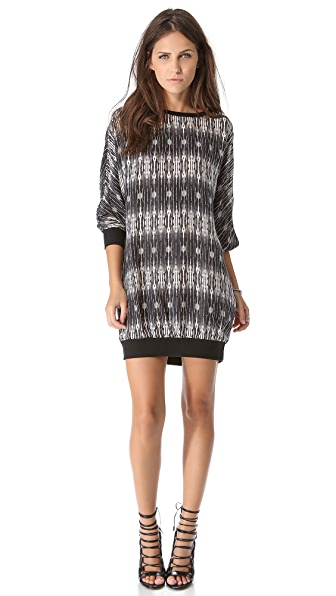 Haute Hippie Print Sweatshirt Dress