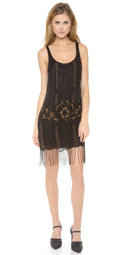 Haute Hippie Embellished Fringe Dress