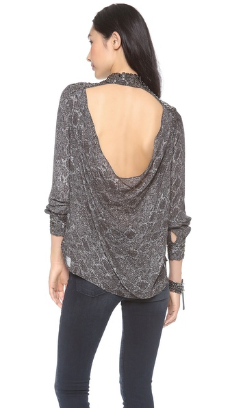 Haute Hippie Open Back Blouse
