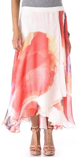 Haute Hippie Print Maxi Skirt