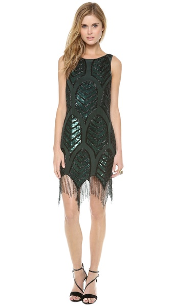 Haute Hippie Embellished Cocktail Dress