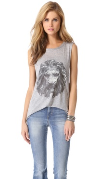 Haute Hippie Lion Head Muscle Tank