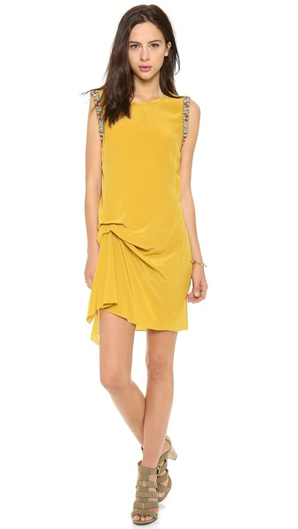 Haute Hippie Side Gather Dress