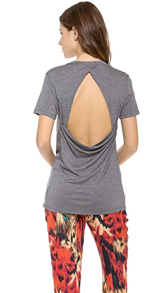 Haute Hippie Pocket Tee with Open Back
