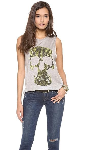 Haute Hippie Python Skull Muscle Tank