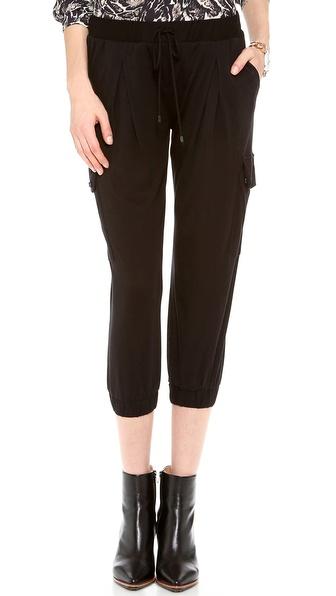 Haute Hippie Cropped Jersey Skinny Pants