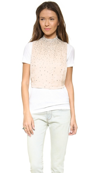 Haute Hippie Choker Bib Overlay with Crystals
