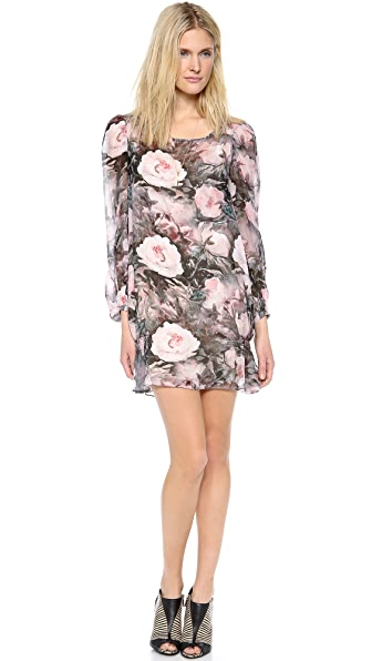 Haute Hippie Long Sleeve Floral Dress