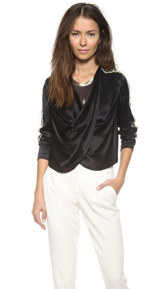 Haute Hippie Cropped Embellished Jacket