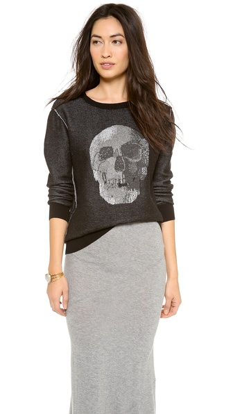Haute Hippie Birds Eye Skull Sweater