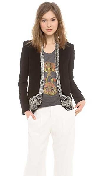 Haute Hippie Jacket with Embellished Trim