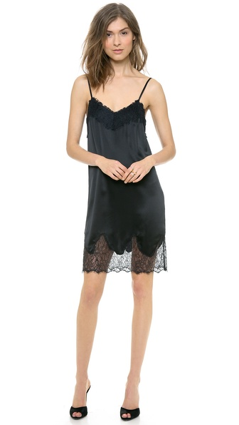Haute Hippie Lace and Charm Slip Dress
