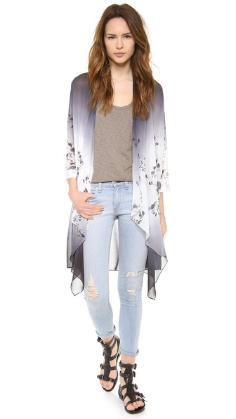 Haute Hippie Ombre Ink Blot Long Draped Cloak