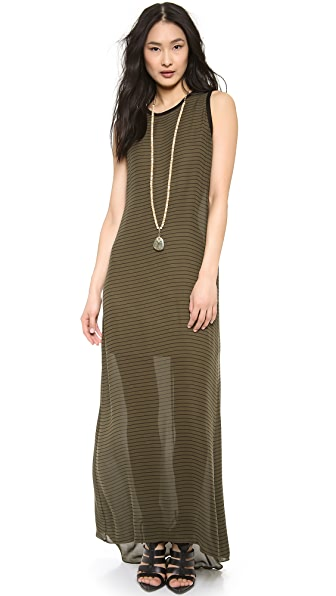 Haute Hippie Sleeveless Stripe Gown