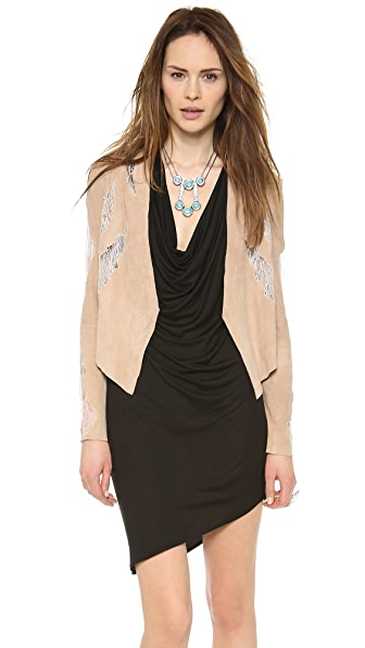 Haute Hippie Draped Suede Jacket