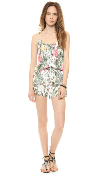 Haute Hippie Button Down Romper
