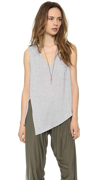 Haute Hippie V Neck Pocket Tank