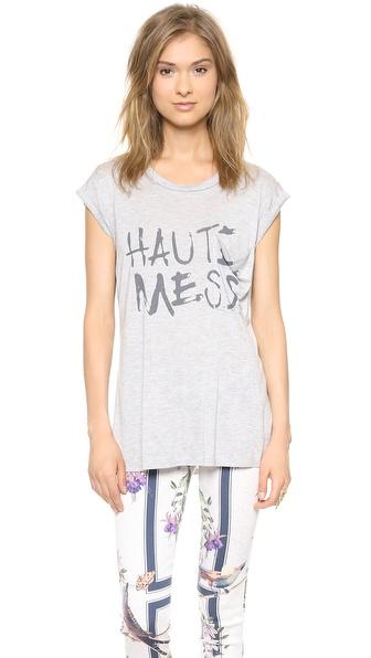 Haute Hippie Rolled Sleeve Haute Mess Tee