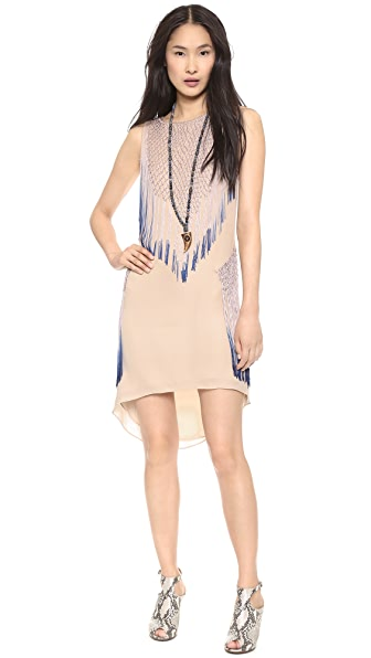 Haute Hippie Dip Dye Ombre Fringe Dress