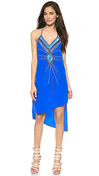 Haute Hippie V Neck Embellished Dress