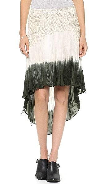 Haute Hippie Dip Dye Fringe Skirt