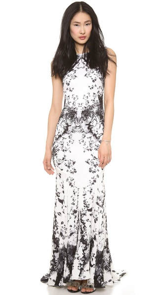 Haute Hippie Engineered Floral Gown