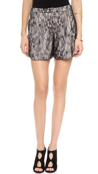 Haute Hippie Lace Shorts