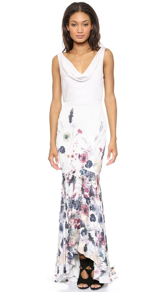 Haute Hippie Meadow Floral Gown
