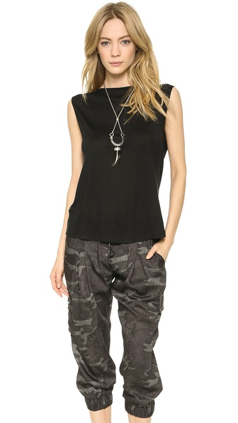Haute Hippie Cowl Back Chain Top