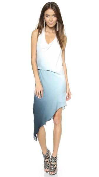 Kupi Haute Hippie haljinu online i raspordaja za kupiti Haute Hippie Side Tuck Ombre Dress Swan/Midnight online