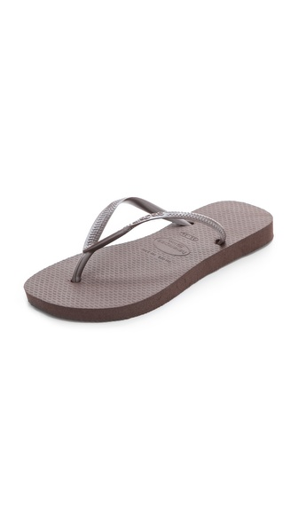 Havaianas Slim Flip Flops - Brown at Shopbop / East Dane