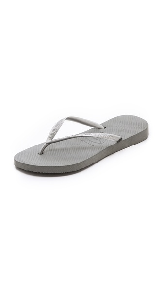 Havaianas Slim Flip Flops - Grey/Silver at Shopbop / East Dane